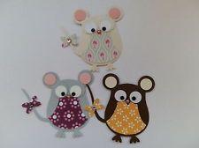 6 Stampin up Mäuse Mädchen: