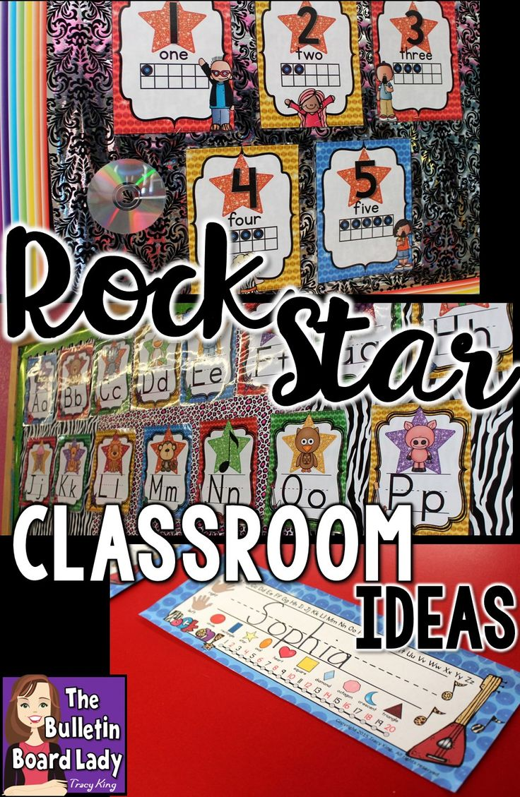Great ideas for a rock star themed classroom.  Decorations, bulletin boards, labels and more printables that coordinate with more products are all here in one place.  This is such a fun theme that your students will love.  Rock on, teacher friends! Rock on!