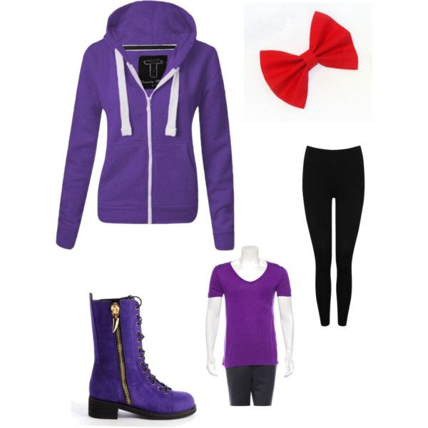 Fnaf Bonnie inspired outfit by kinseyalexander04 on Polyvore featuring polyvore, fashion, style, T By Alexander Wang, M&Co and Giuseppe Zanotti
