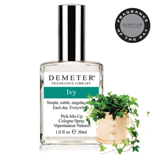 Receive Demeter's Ivy for 50% off with code 8537082. On this day in 1966, the National Organization of Women was founded. To honor this day, we've chosen Ivy, the symbol of woman as our Fragrance of the Day.   Only one promotional code can be used per order.