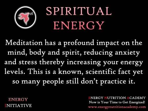 Meditation to increase energy.