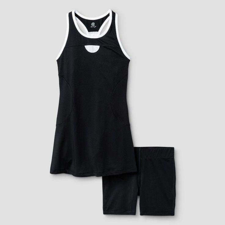 Girls' Tennis Dress - C9 Champion - Black L, Toddler Girl's, Ebony