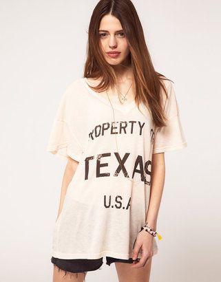 Beyonce's El Cosmico Wildfox Property of Texas T-Shirt