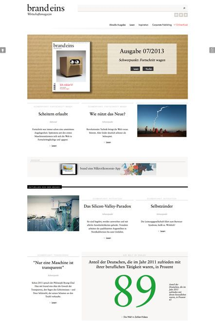 Redesign: die neue brand eins Webseite