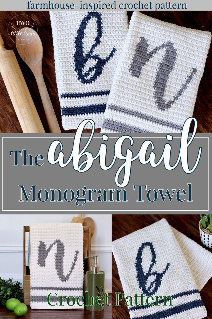 crochet monogram towel pattern crochet hand towel tutorial kitchen rh co pinterest com
