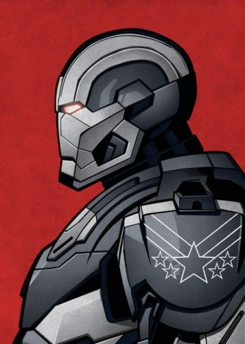 Marvel War Machine metal poster - PosterPlate posters made out of metal