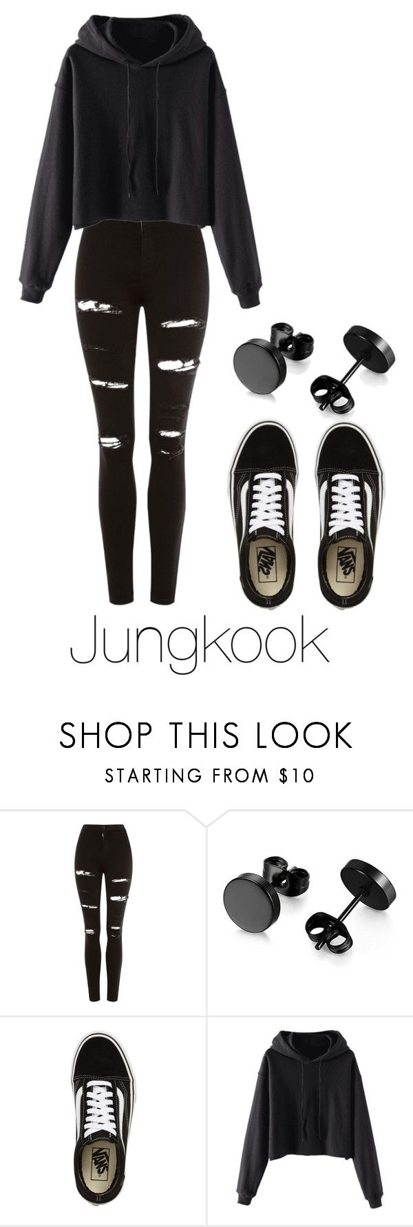 """Jungkook"" by jakellinne on Polyvore featuring moda, Topshop e Vans"