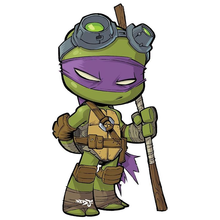 Chibi donatello im making a set of tmnt chibi stickers you can pre order all 4 turtles right now from my art store click link in my bio to go directly