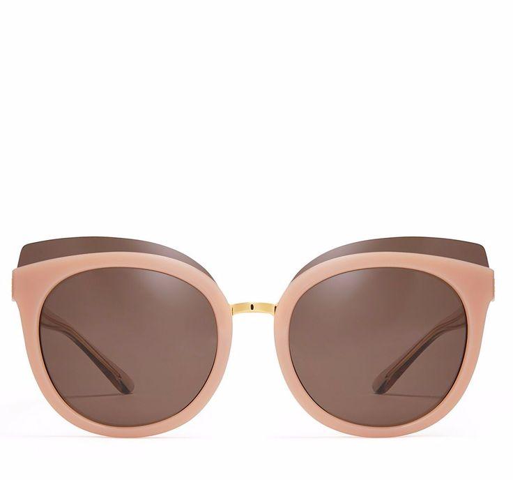 Tory Burch Mixed-Materials Panama Sunglasses