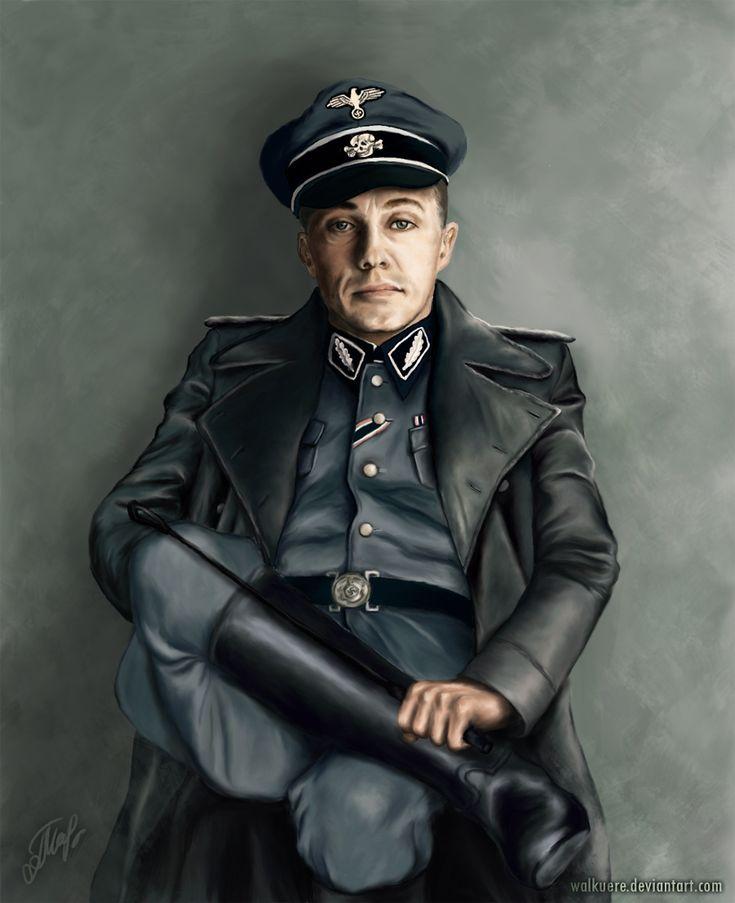 Hans Landa from Inglorious Basterds. Gorgeous, stunning Christoph Waltz.  Digital painting, Adobe Photoshop CS3.