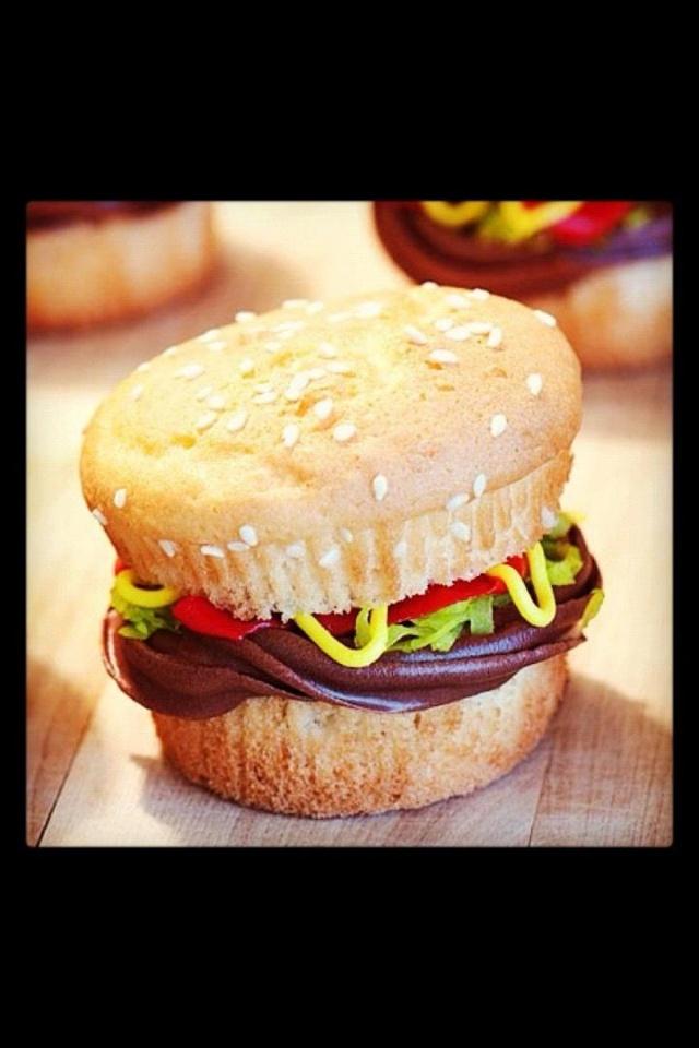 """Juicy Lucy"" Burger Cupcakes Recipe — Dishmaps"