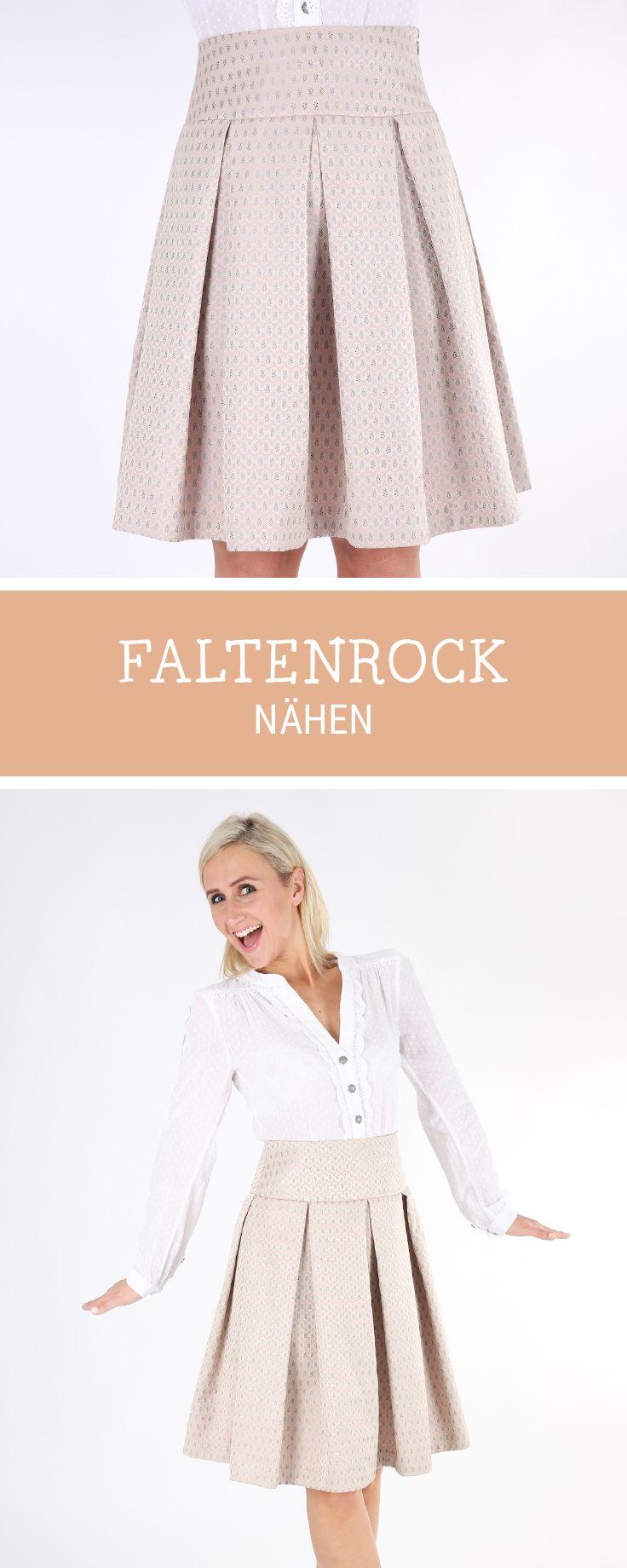 Entdecke die #Nähanleitung für einen knielangen #Faltenrock, DIY-Tutorial / #diy sewing tutorial for fifties plaid #skirt via DaWanda.com