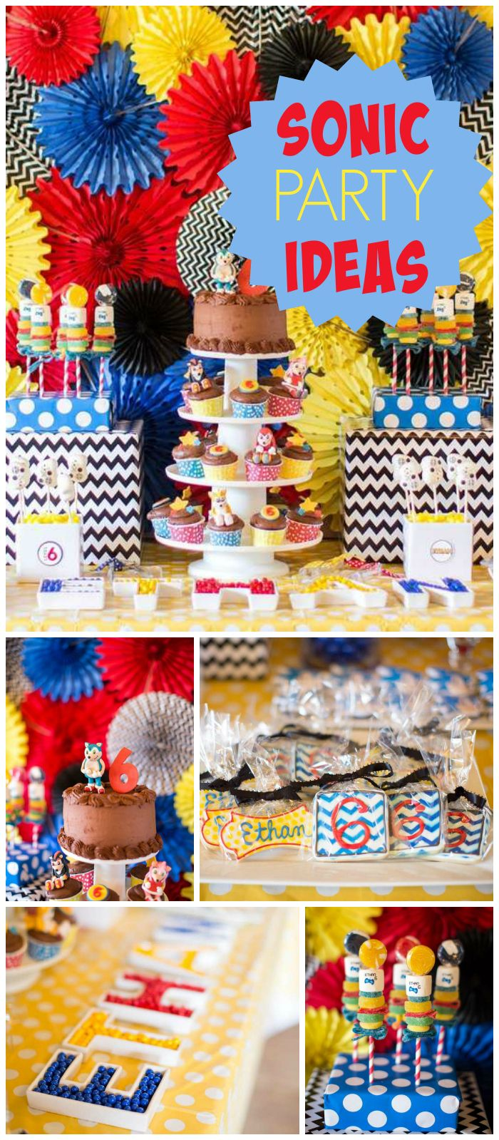 Check out this awesome Sonic video game party! See more party ideas at CatchMyParty.com!