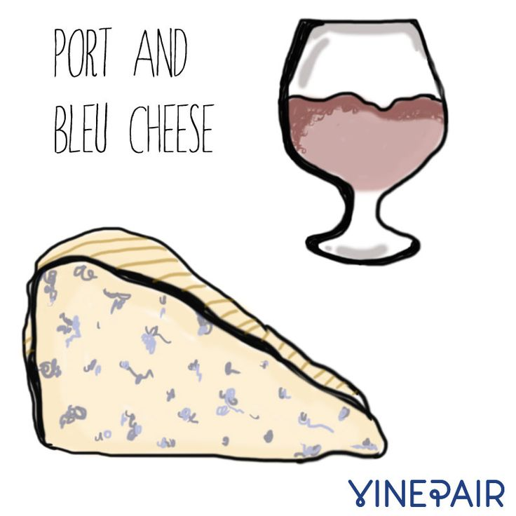 Port and bleu cheese make the perfect pairing
