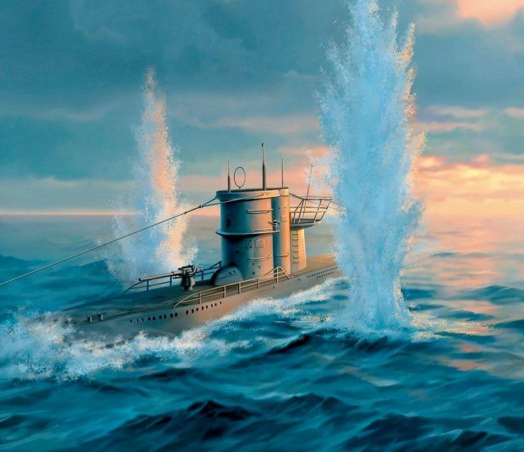 U=Boat under air attack | WWII Naval | Pinterest