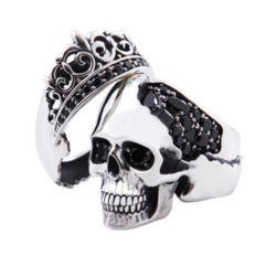 wedding rings for my gothic wedding lol