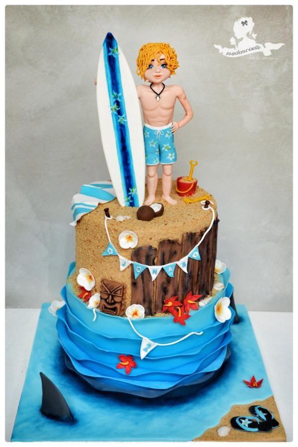 Surfer cake by Mademoiselle fait des gâteaux