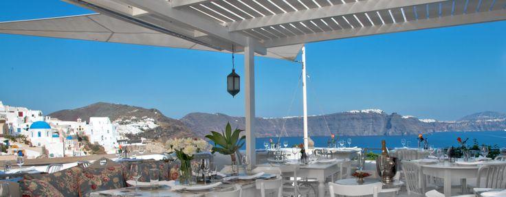 Red Bicycle restaurant - Oia, Santorini.