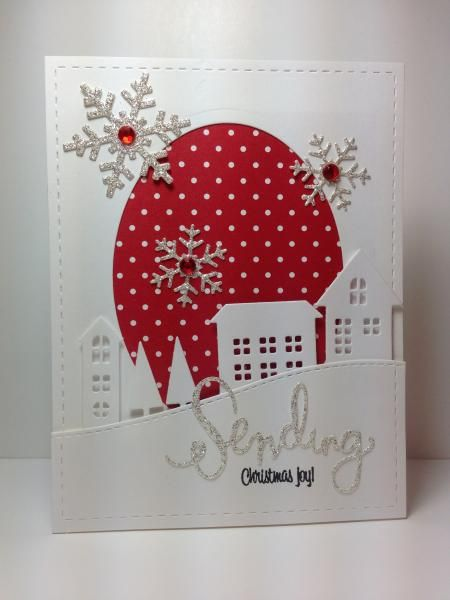 "village dies and ""sending"" die: Simon Says Stamp, #SSSFAVE, by beesmom - Cards and Paper Crafts at Splitcoaststampers"