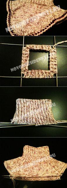 Манишка для мальчика спицами, схема вязания для начинающих | Уход за новорожденным