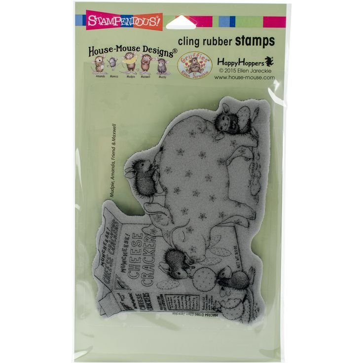 Stampendous House Mouse Cling Stamp 7.75X4.5-Bank Deposit