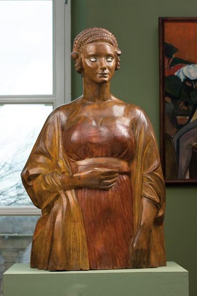 xawery dunikowski, amerykanka II, 1927, drewno polichromowane