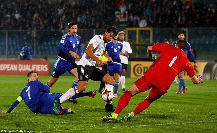They were soon ahead, too, as Juventus midfielder Sami Khedira slotted the ball home following a neat Germany move
