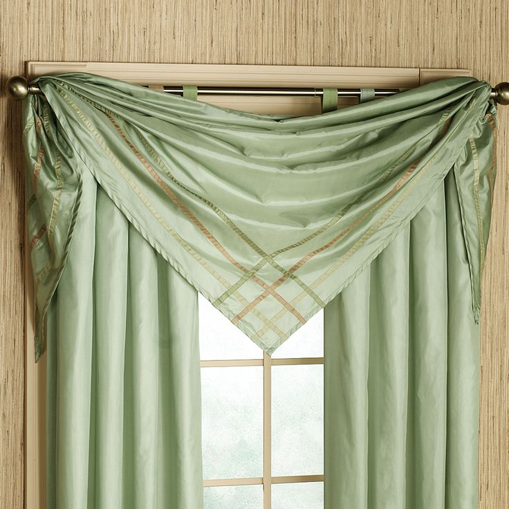 Decoration Ideas Beautiful Lime Green Scarf Window