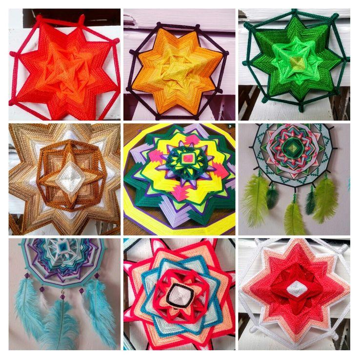 Ojos de dios - Mandalas tejidos