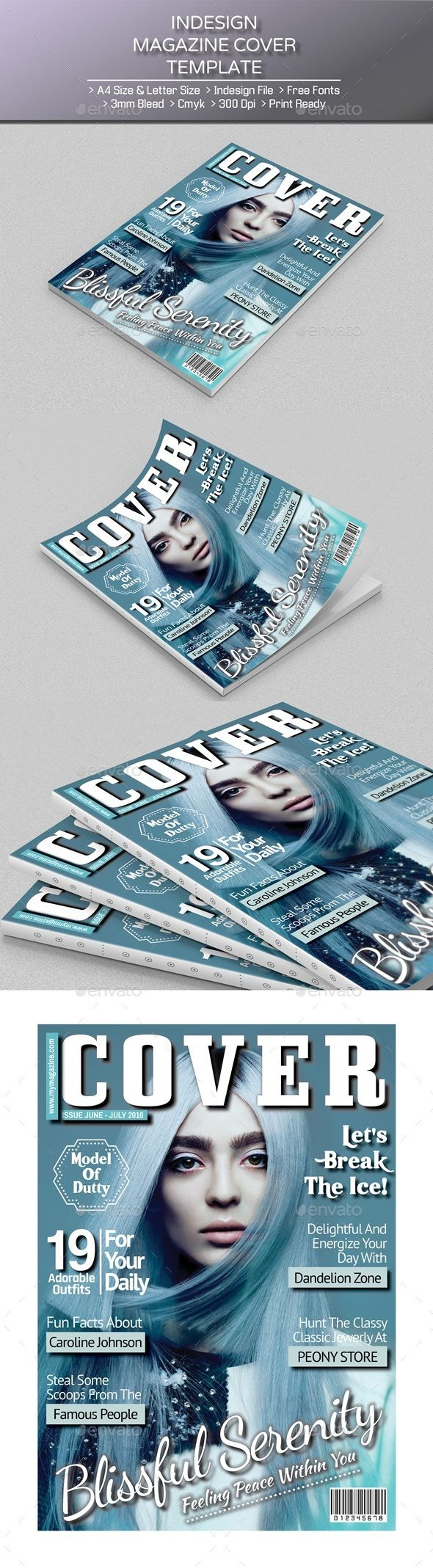 Magazine Cover Template 154 best Brochure Magazine