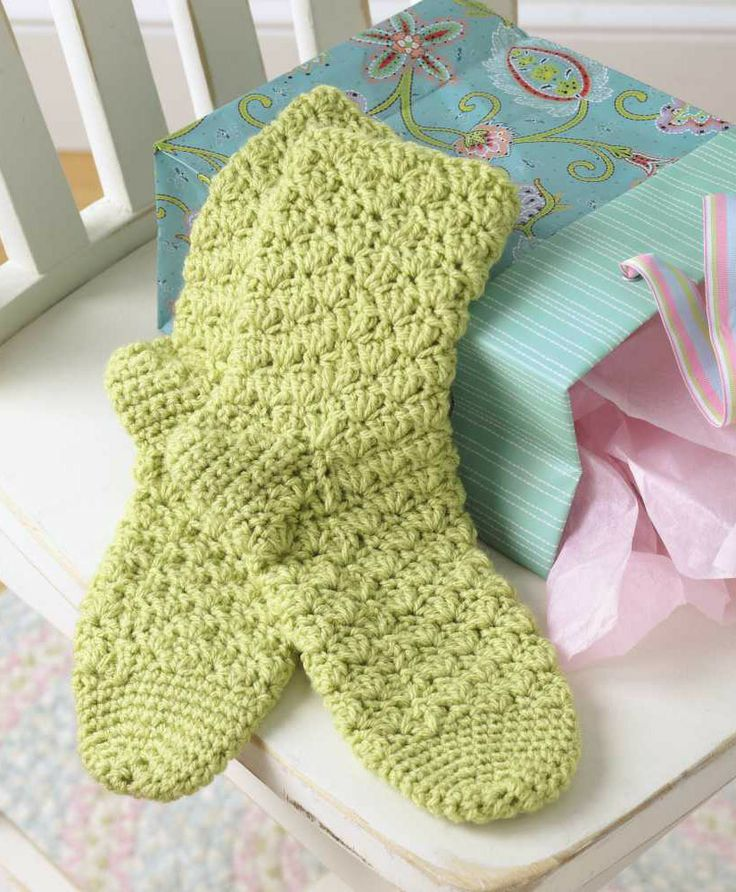 Learn to Crochet Socks for the Whole Family.