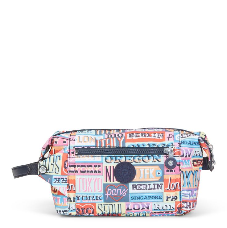 """Add a pop of print to your suitcase or weekender duffel with our printed toiletry bag. This case is perfect for carrying your cosmetic essentials and travel-sized must-haves. It's especially easy to tow on-the-go thanks to the comfy carry handle and side snaps allow for easy expansion. Plus, it can be personalized with a monogram! Head over to our personalization shop to make it a one-of-a-kind pouch.<br><br>Dimensions: 11.25"""" L x 5.5"""" H x 4"""" D Weight: 0.29 lbs..."""