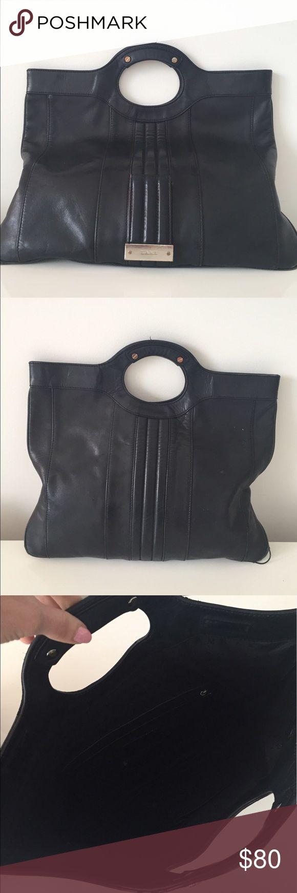 4th of July Sale 🇱🇷Large Black leather LAMB bag Large Black leather L.A.M.B bag 100% Authentic L.A.M.B. Bags