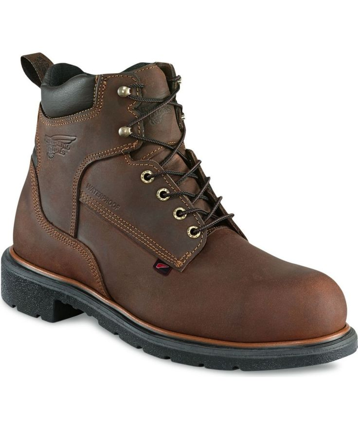 Red Wing Men S 6 Inch Waterproof Steel Toe Boot 4215