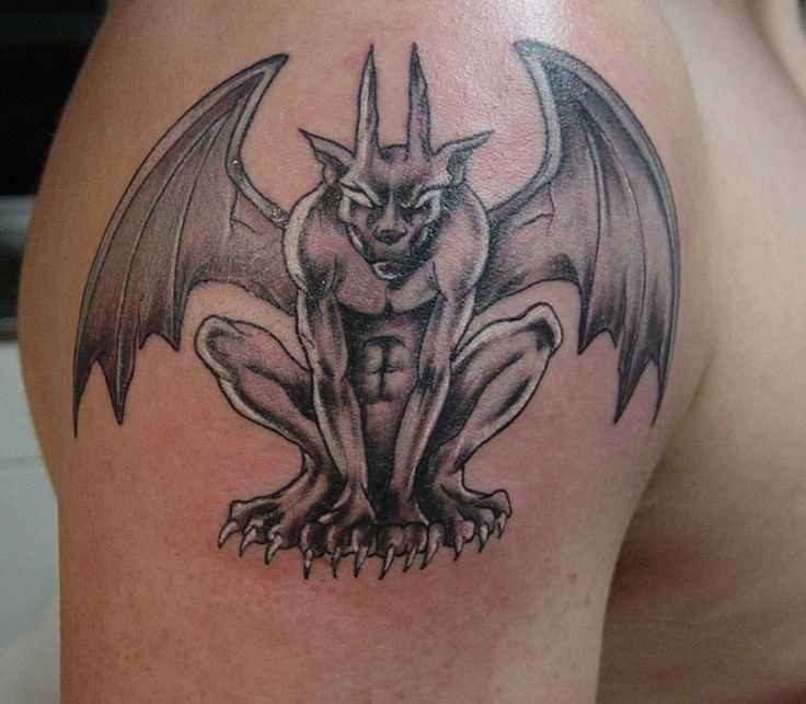 Gargoyle-Tattoo-Muster | Weitere Tattoos-Bilder unter: Gargoyle-Tattoos  #bilder… – Tattoo Ideen