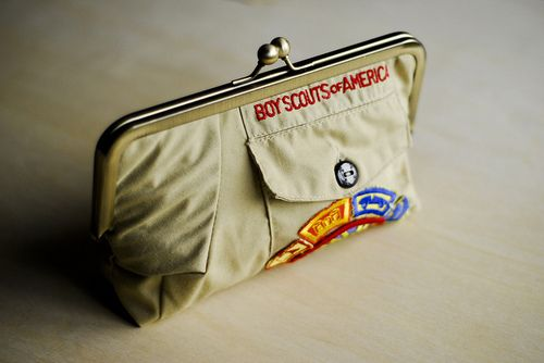 boy scout uniform clutch. Now I know what I'm doing with his cub scout uniform when he's done.
