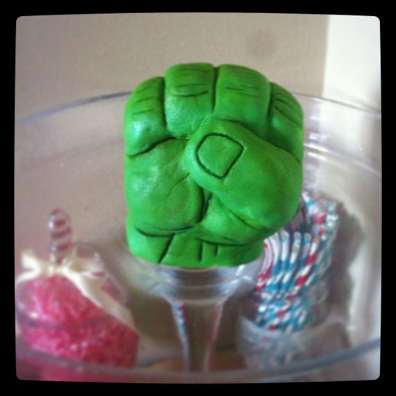 Hulk Hand Cake topper by PinkBoxSweets on Etsy
