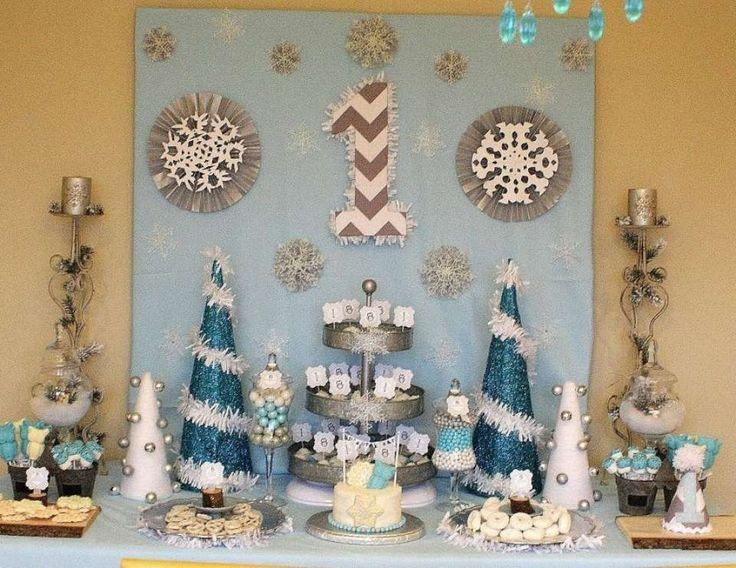 "Winter wonderland owl / Birthday ""Winter ONEderland Birthday "" 