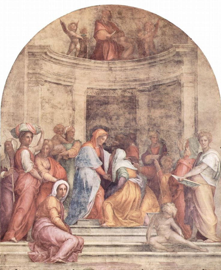 Jacopo_Pontormo. Посещение, 1514-16; Фреска; 392 х 337 см; SS. Аннунциата, Флоренция