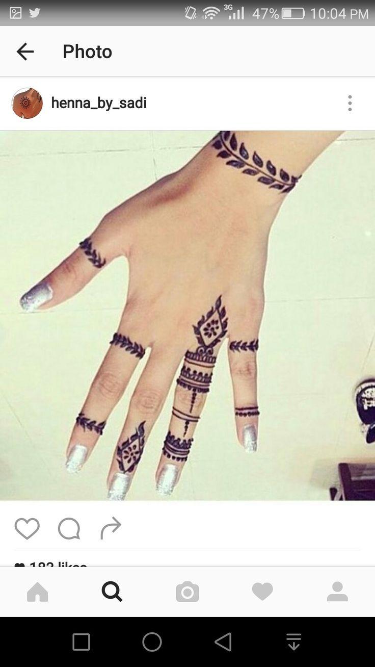 Simple henna design Henna_by_sadi Instagram