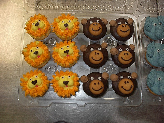 More Lion Cupcakes
