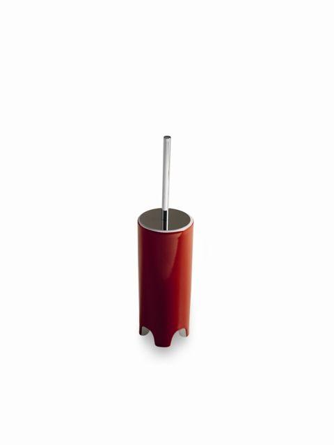 Cow, design Meneghello Paolelli Associati.   Portascopino / Toilet brush holder. #washbasin #bathroom #design #red #Artceram