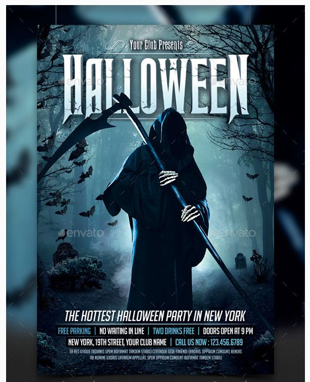 14 best Halloween reference images on Pinterest Halloween - halloween party flyer