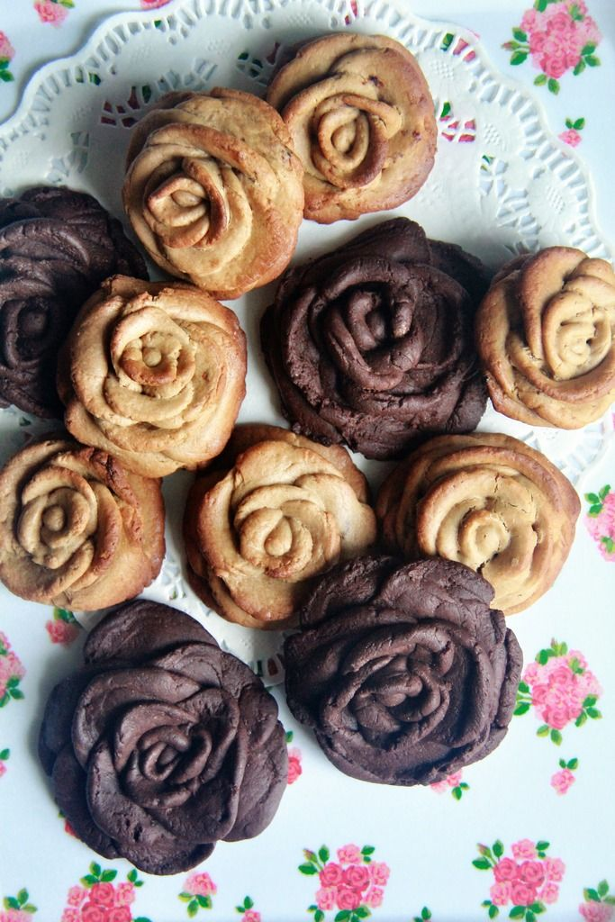 chocolate rose cookies.