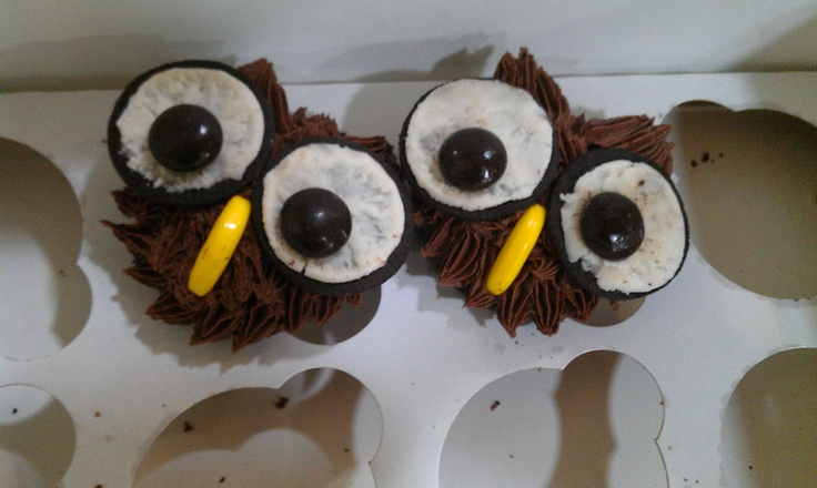 I am a Girl Guide leader, and one of the moms made these cupcake owls for enrollment. Thanks! They are so cute!