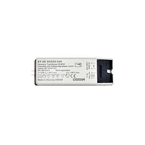 Transformateur TBT 220V vers 12V 20 à 60W pour ampoules halogènes ou LED 12V AC: Price:6.99Ce transformateur TBT (Très Basse Tension) 12V…