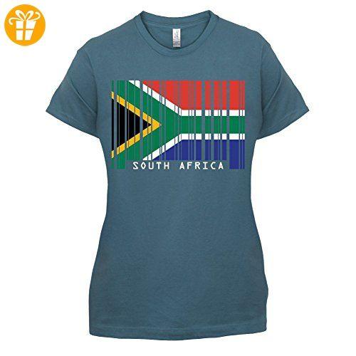 South Africa / Südafrika Barcode Flagge - Damen T-Shirt - Indigoblau - M - T-Shirts mit Spruch | Lustige und coole T-Shirts | Funny T-Shirts (*Partner-Link)