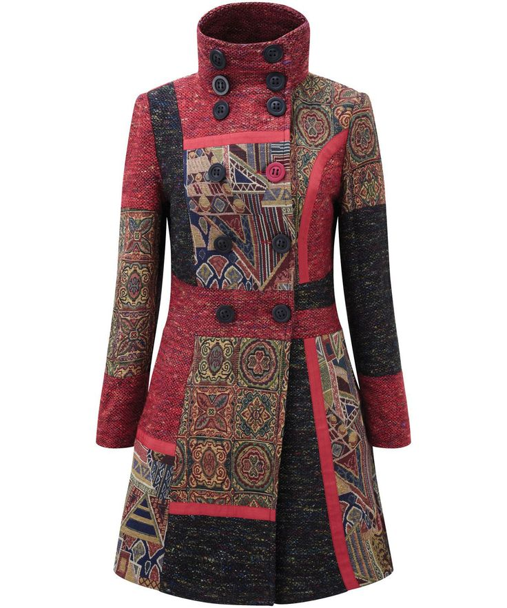 Perfect Patch Coat Warm, comfy and confident, you can't ask more of a winter coat. The jacquard panels were influenced by the lovely rugs we found in the souks of Marrakech.