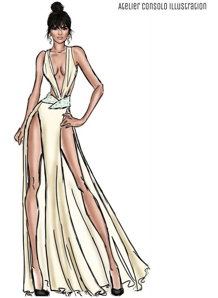 form design kendal Summer Fever Look 2: Kendall Jenner by @atelierconsoloillustration