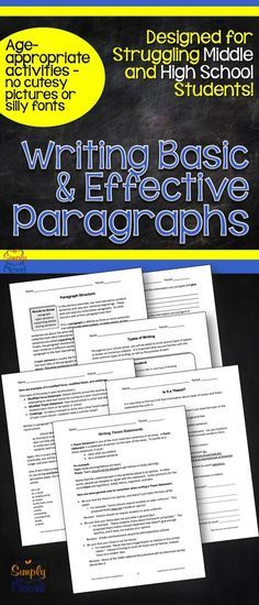 Paragraph Structure Writing Practice for Middle and High School students - engaging materials for struggling students without all the cutesy stuff!!